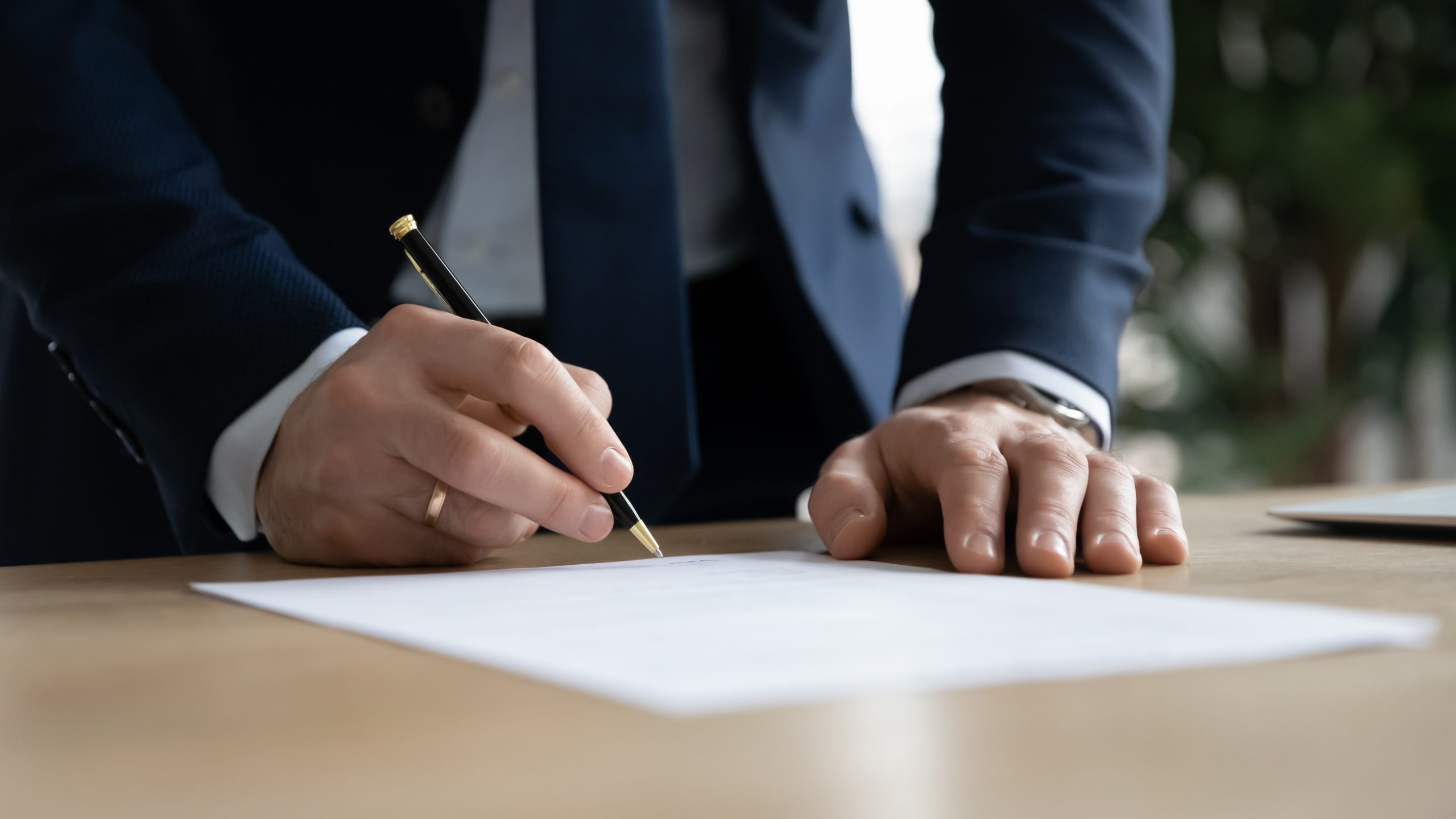 Lawyer working on a Employment Package Template